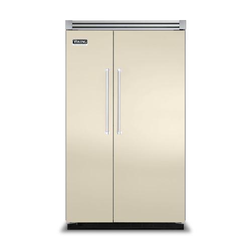 "Viking - Biscuit 48"" Side-by-Side Refrigerator/Freezer - VISB (Integrated Installation)"