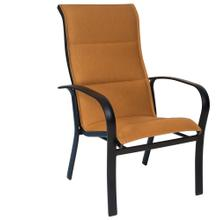 See Details - Fremont Padded Sling High-Back Dining Armchair - Stackable