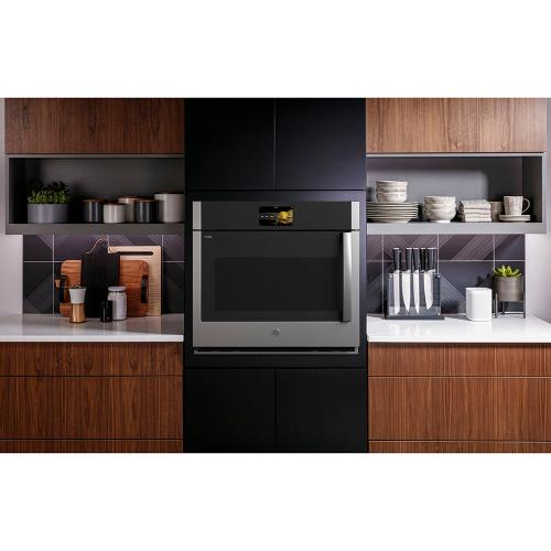 """GE Profile 30"""" Built-In Convection Single Wall Oven with Left-Hand Swing Doors - Stainless Steel PTS700LSNSS"""