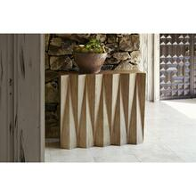 See Details - Accordion Console Table - White Oak