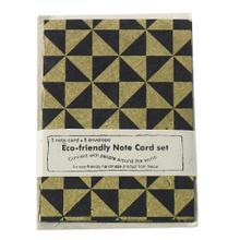 "4.25"" x 6"" x pack of 5 Black Notecards (Geo Option)"