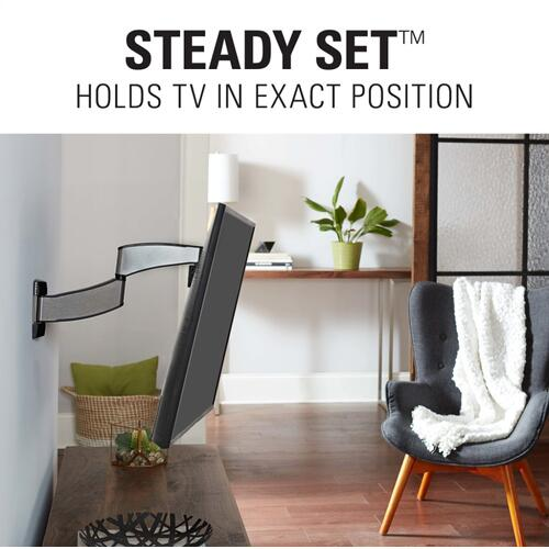 "Silver SANUS Advanced Full-Motion Premium TV Mount for 19"" to 40"" TVs"