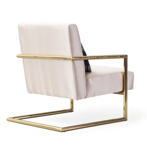 Elle Beige Linen Chair