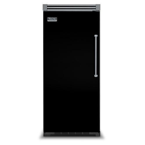 "Viking - Black 36"" Quiet Cool™ All Refrigerator - VIRB Tru-Flush™ (Left Hinge Door)"