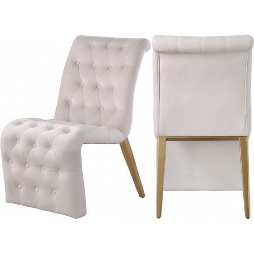 "Curve Velvet Dining Chair - 19.5"" W x 30"" D x 36.5"" H"