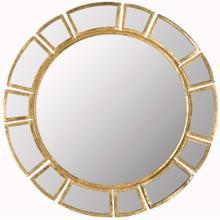 Deco Sunburst Mirror - Antique Gold