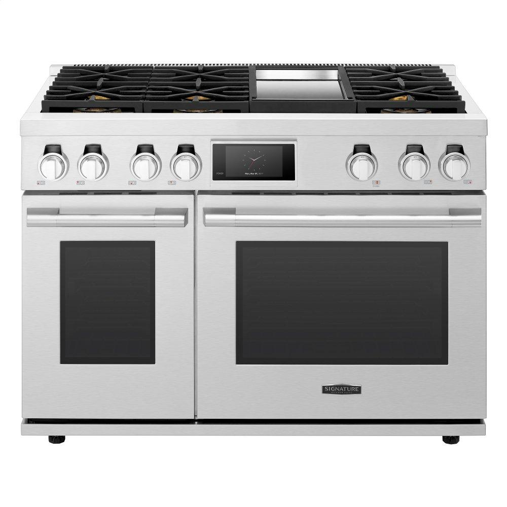 Signature Kitchen Suite48-Inch Dual-Fuel Pro Range With 6 Burners And Griddle