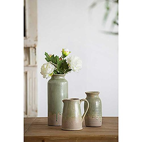 Surry Ceramic Vase Med Green