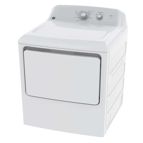 GE® 6.2 Cu Ft. Capacity DuraDrum Electric Dryer White - GTD32EBMPWW