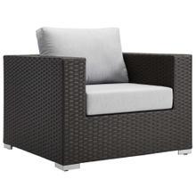 Sojourn Outdoor Patio Sunbrella® Armchair in Canvas Gray