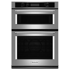 "27"" Combination Wall Oven with Even-Heat™ True Convection (lower oven) - Stainless Steel Product Image"