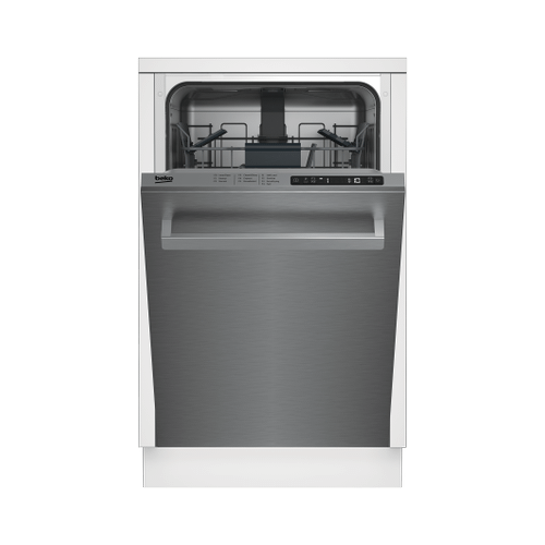 Slim Size Stainless Dishwasher, 8 place settings, 48 dBA, Top Control