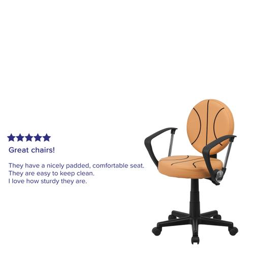 Gallery - Basketball Swivel Task Office Chair with Arms