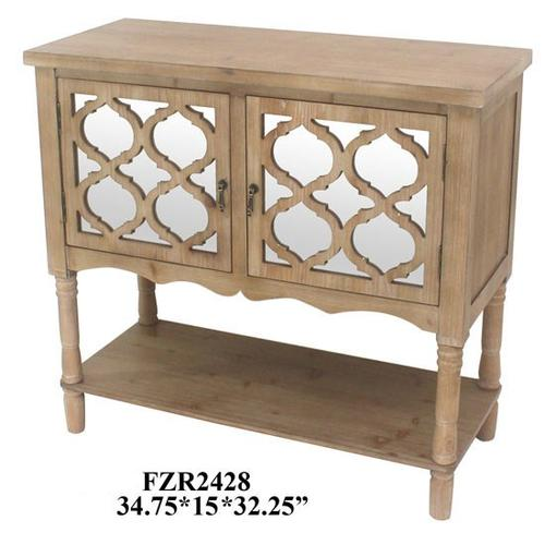 """Crestview Collections - 34.75X15X32.25"""" WOOD TABLE FURNITURE, 1 PC KD, 8.8'"""