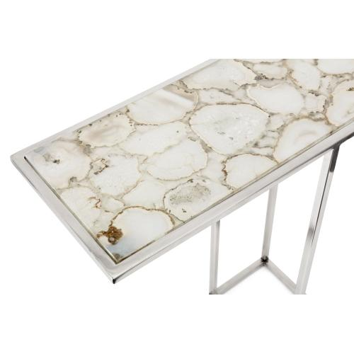 NK Natural Agate Stone Nesting Tables - Set of 2