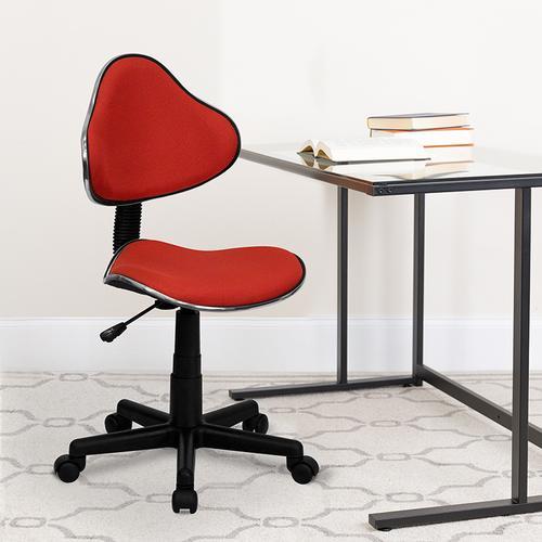 Gallery - Red Fabric Swivel Ergonomic Task Office Chair