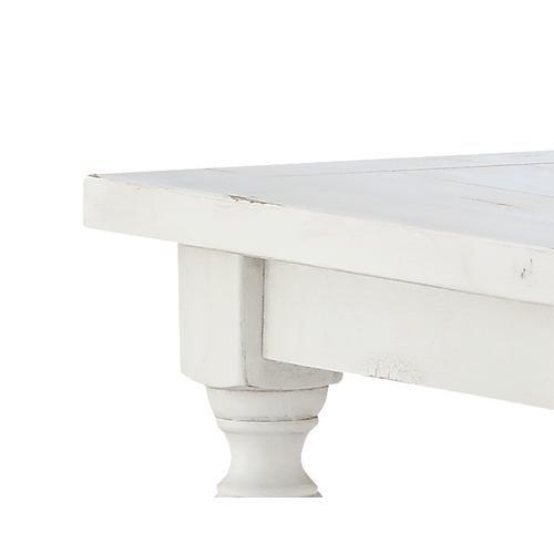 Emerald Home Abaco End Table, Country White T848-01