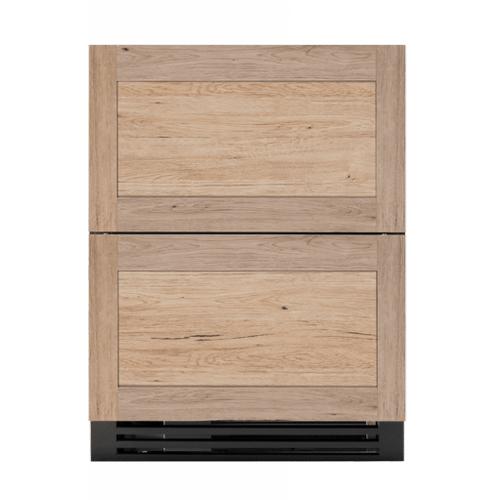 True Residential - 24 Inch Overlay Panel Door ADA Height Undercounter Refrigerator Drawer