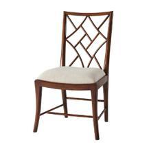 A Delicate Trellis Side Chair, #plain# - Mahogany Finish