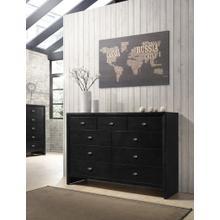 Gloria Black Finish Wood 9 Drawers Dresser