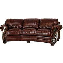 Leather/Cowhide Cowboy Theater Sofa