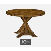 "48"" Country Walnut Circular Dining Table"