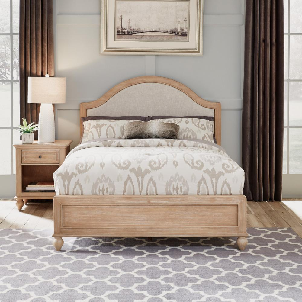 Claire Queen Bed and Nightstand