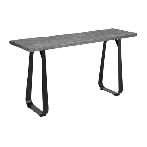 Crossover Gray Console Tables with different bases, SB-AUT-28G