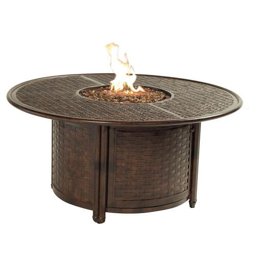 """Castelle - 49"""" Resort Round Firepit Coffee Table"""