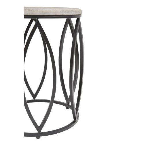 Global Archive Ivy Mango and Metal Accent Tables (set of 2)