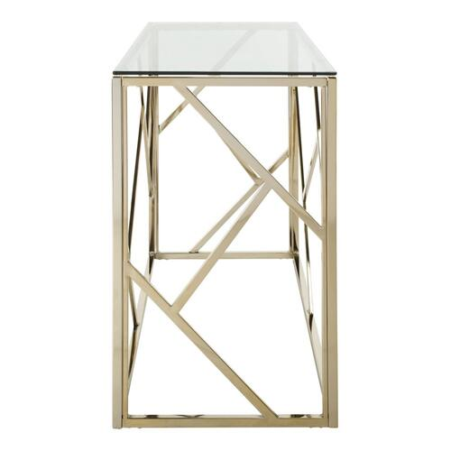 Safavieh - Namiko Console Table - Clear / Brass Leg