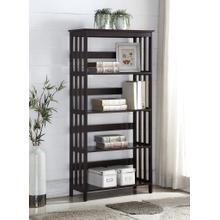 Aix Espresso Finish Wooden 4 Shelves Bookcase