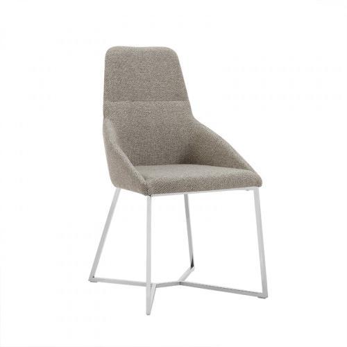Stark - Modern Light Grey Fabric Dining Chair (Set of 2)