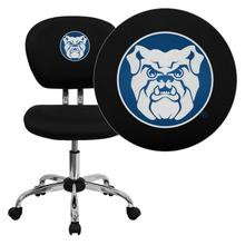 Butler University Bulldogs Embroidered Black Mesh Task Chair with Chrome Base