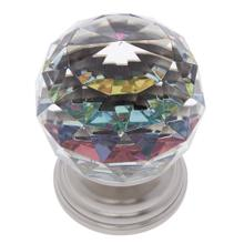 Satin Nickel 50 mm Round Prism Knob