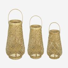Nola Round Lanterns, Natural, Set 3