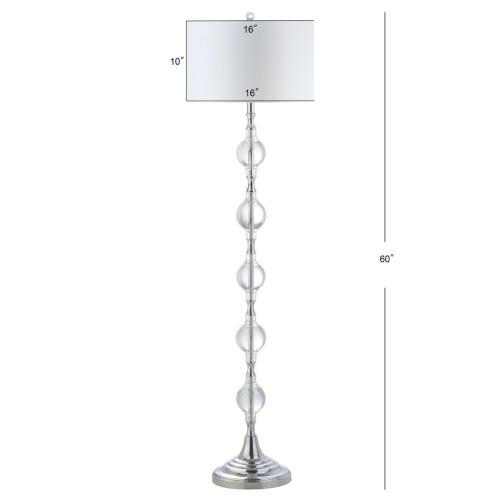 Lucida Floor Lamp - Chrome / Clear