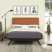 Tracy Queen Bed in Cappuccino Orange