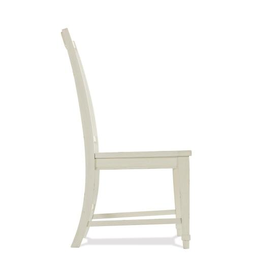 Grand Haven - Slat Back Side Chair - Feathered White Finish