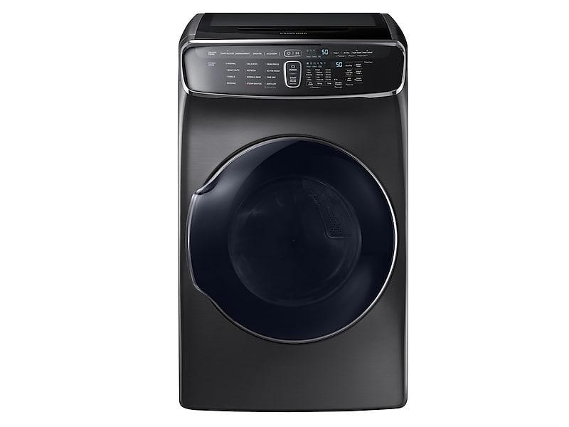 Samsung7.5 Cu. Ft. Smart Gas Dryer With Flexdry™ In Black Stainless Steel