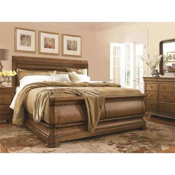 See Details - Louie P's Queen Sleigh Bed