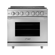 "36"" Gas Pro Range, Silver Stainless Steel, Natural Gas"