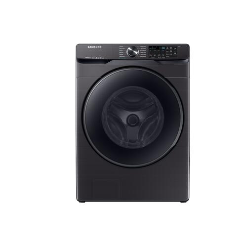 Samsung - 5.0 cu. ft. Smart Front Load Washer with Super Speed in Black Stainless Steel