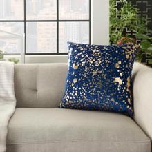 "Luminescence Qy168 Navy Gold 18"" X 18"" Throw Pillow"