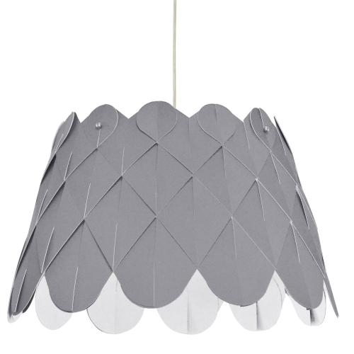 1lt Amirah Pendant Sglow Grey, Polished Chrome