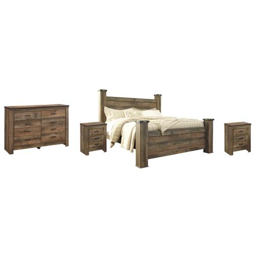 Ashley - King Poster Bed With Dresser and 2 Nightstands