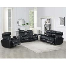 See Details - Lavon 3-Piece Dual-Power Leatherette Reclining Set (Sofa, Console Loveseat & Recliner)