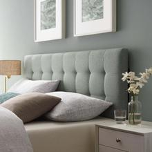 View Product - Lily King Upholstered Fabric Headboard in Gray