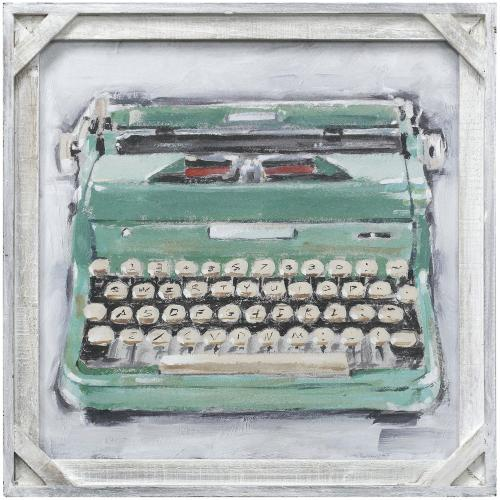 Style Craft - VINTAGE TYPE WRITER II  20in X 20in  Made in the USA  Textured Framed Print