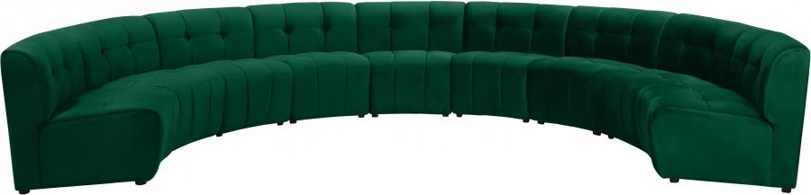 "Limitless Modular Velvet 9pc. Sectional - 173"" W x 102"" D x 31"" H"
